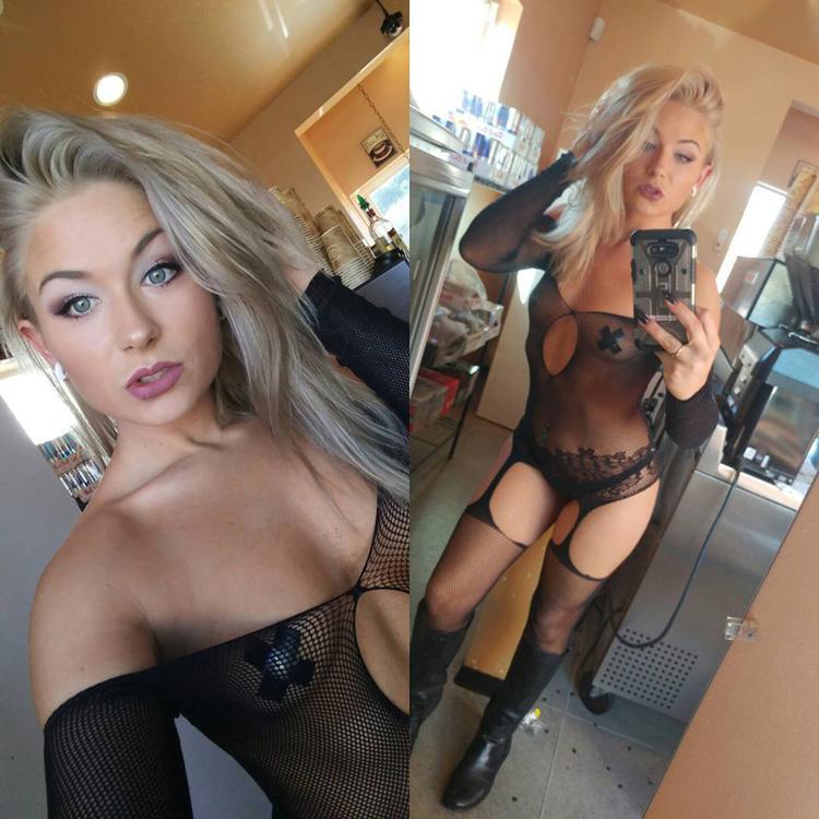 Cassandra stripteaseuse torride blonde 6