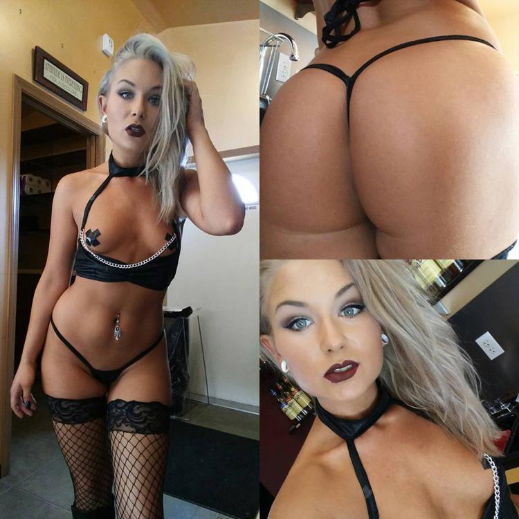 Cassandra stripteaseuse torride blonde 8