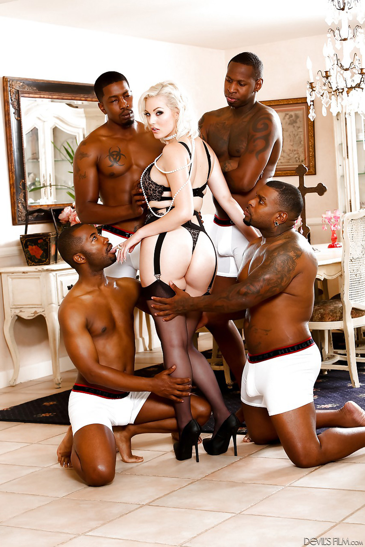 Jenna Ivory Gangbang interracial